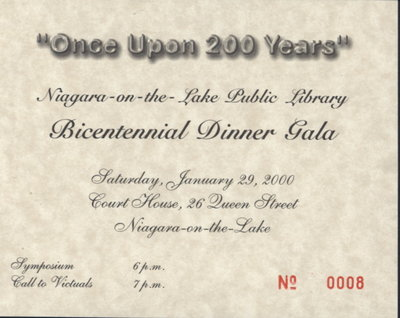 """""""Once Upon 200 Years"""" Bicentennial Gala Dinner Tickets"""