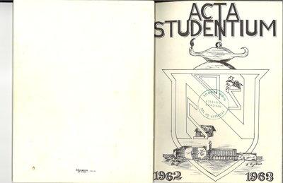 Niagara District Secondary School Yearbook (1962-1963)