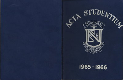 Niagara District Secondary School Yearbook (1965-1966)