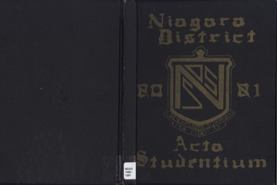Niagara District Secondary School Yearbook (1980-1981)
