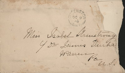Letter to Isabel Armstrong from her mother