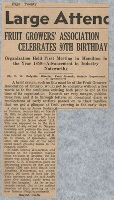 Fruit Growers' Association celebrates 80th birthday