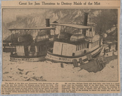 Great Ice Jam Threatens to Destroy Maids of the Mist
