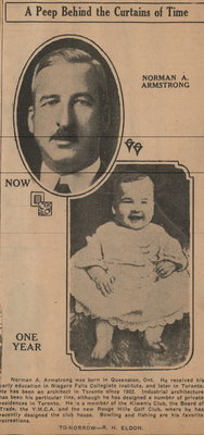 Scrapbook dedicated to Norman A. Armstrong