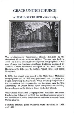 Grace United Church. A heritage church since 1852