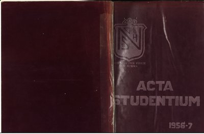 Niagara District Secondary School Yearbook (1956-1957)