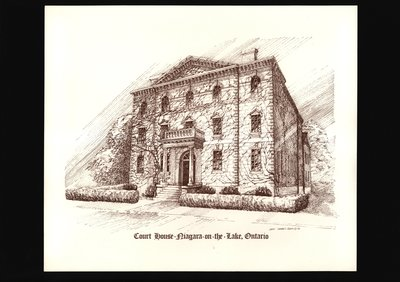 Sketch of old courthouse, Niagara-on-the-Lake