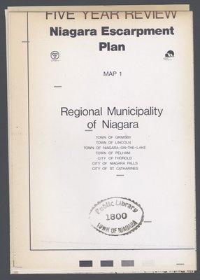 Niagara Escarpment Plan: Regional Municipality of Niagara, 1991 (Map 1)