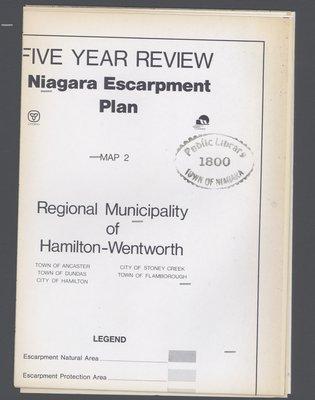 Niagara Escarpment Plan: Regional Municipality of Hamilton-Wentworth, 1991 (Map 2)