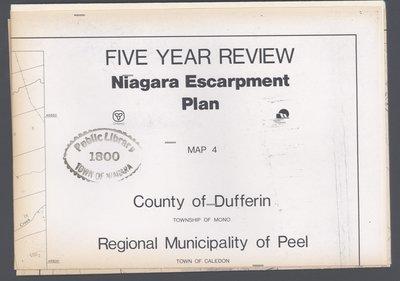 Niagara Escarpment Plan: County of Dufferin and Regional Municipality of Peel, 1991 (Map 4)