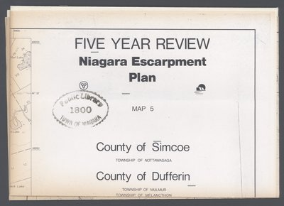 Niagara Escarpment Plan: County of Dufferin and County of Simcoe, 1991 (Map 5)