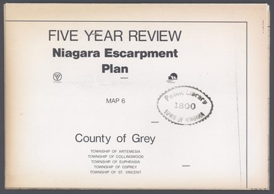 Niagara Escarpment Plan: County of Grey, 1991 (Map 6)