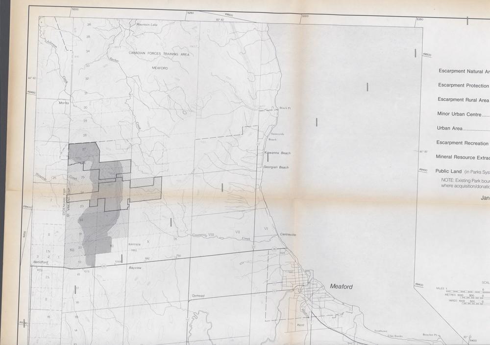 Niagara Escarpment Plan: County of Grey, 1991 (Map 6)