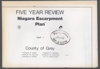 Niagara Escarpment Plan: County of Grey, 1991 (Map 7)