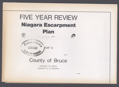 Niagara Escarpment Plan: County of Bruce, 1991 (Map 9)