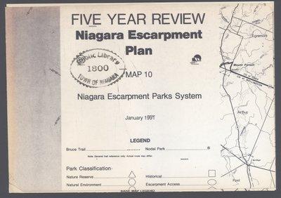 Niagara Escarpment Plan: Niagara Escarpment Parks System, 1991 (Map 10)