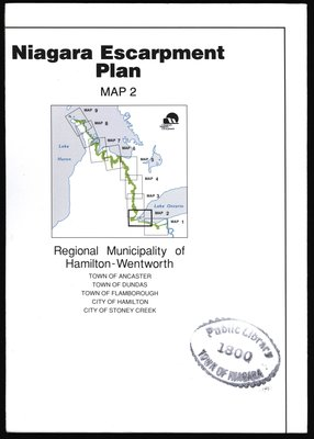 Niagara Escarpment Plan: Regional Municipality of Hamilton-Wentworth, 1994 (Map 2)