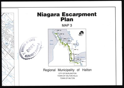 Niagara Escarpment Plan: Regional Municipality of Halton, 1994 (Map 3)