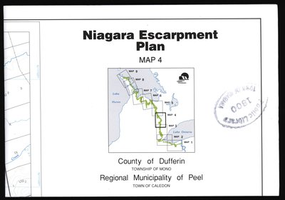 Niagara Escarpment Plan: County of Dufferin and Municipality of Peel, 1994 (Map 4)