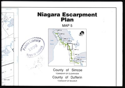 Niagara Escarpment Plan: County of Simcoe and County of Dufferin, 1994 (Map 5)
