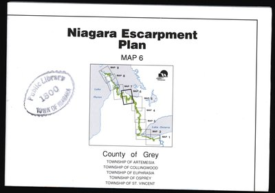 Niagara Escarpment Plan: County of Grey, 1994 (Map 6)