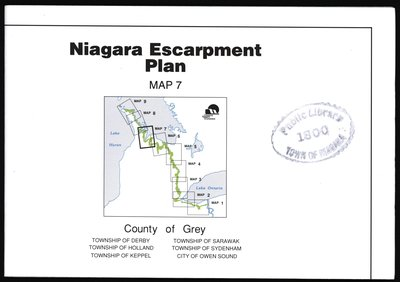 Niagara Escarpment Plan: County of Grey, 1994 (Map 7)