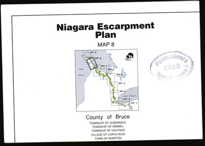 Niagara Escarpment Plan: County of Bruce, 1994 (Map 8)