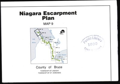 Niagara Escarpment Plan: County of Bruce, 1994 (Map 9)