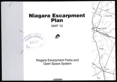 Niagara Escarpment Plan: Niagara Escarpment Parks and Open Space System, 1994 (Map 10)