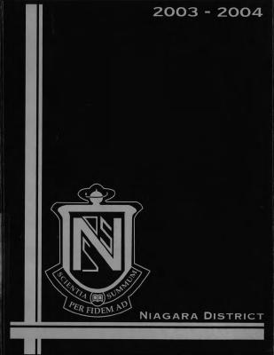 Niagara District Secondary School Yearbook (2003-2004)