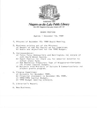 1989 Library Board Minutes (Pay Equity)
