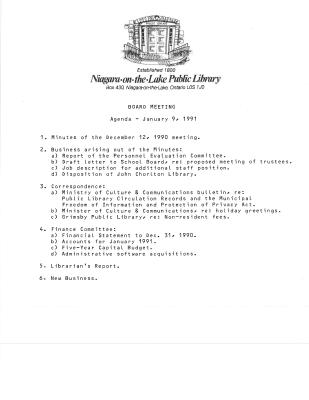 1991 Library Board Minutes (Pay Equity)
