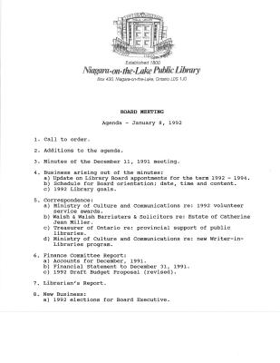 1992 Library Board Minutes (Pay Equity)