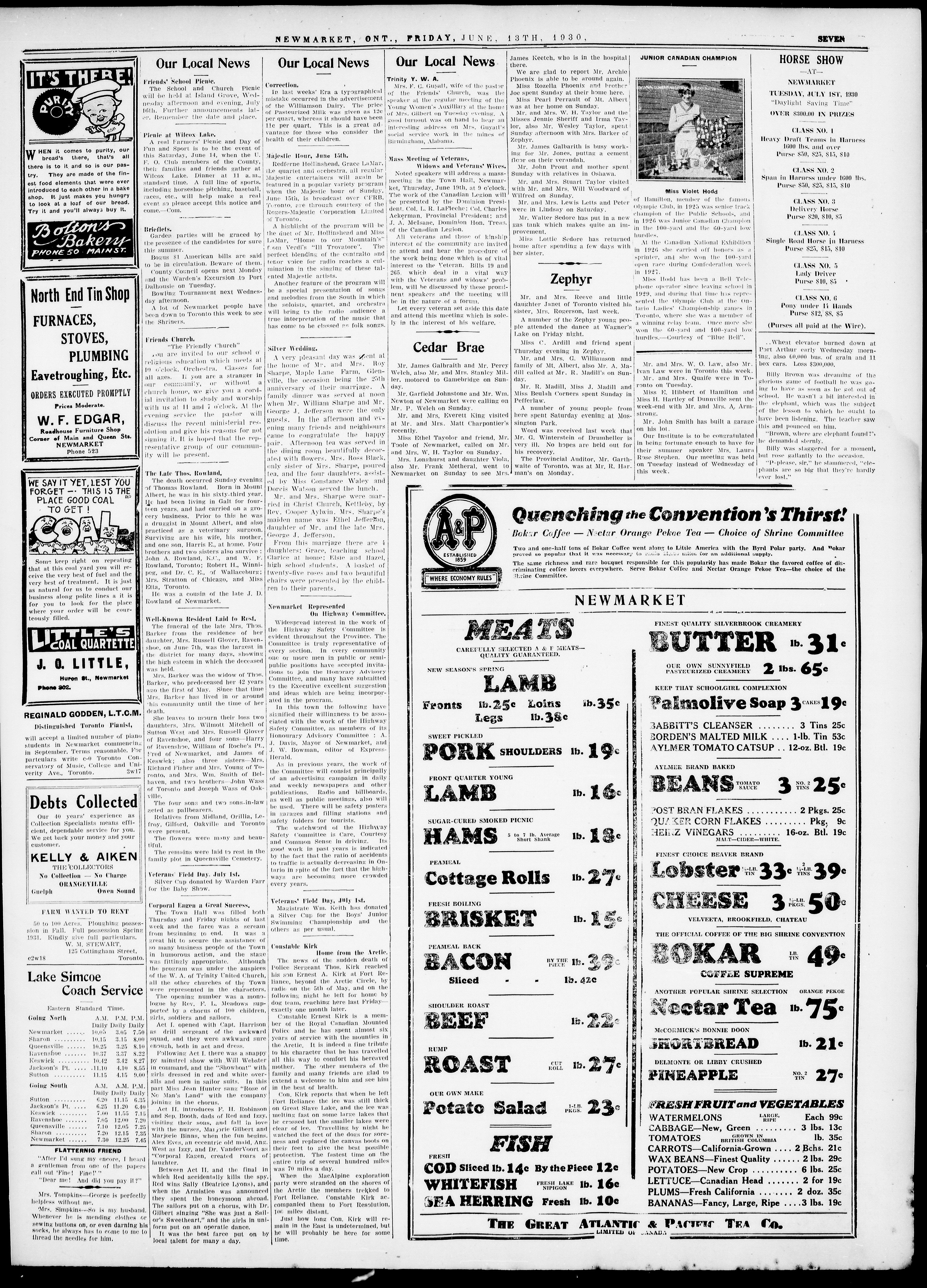 Newmarket Era (Newmarket, ON1861), June 13, 1930