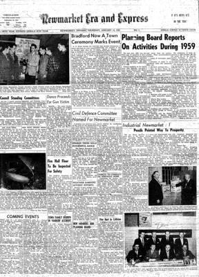 Newmarket Era and Express (Newmarket, ON), 14 Jan 1960