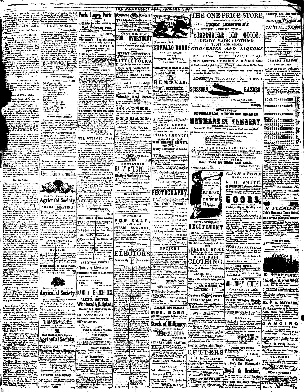 Newmarket Era (Newmarket, ON1861), 3 Jan 1862
