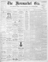 Newmarket Era (Newmarket, ON1861), April 3, 1868