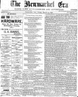 Newmarket Era (Newmarket, ON), March 25, 1898
