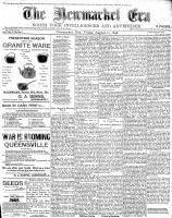Newmarket Era (Newmarket, ON1861), August 12, 1898