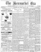 Newmarket Era (Newmarket, ON1861), August 26, 1898