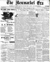 Newmarket Era (Newmarket, ON1861), November 18, 1898