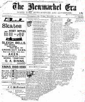 Newmarket Era (Newmarket, ON1861), December 30, 1898