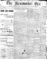Newmarket Era (Newmarket, ON1861), February 10, 1899