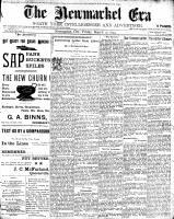 Newmarket Era (Newmarket, ON1861), March 10, 1899