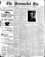Newmarket Era (Newmarket, ON1861), April 14, 1899