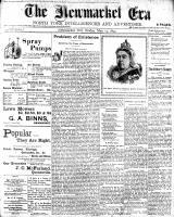 Newmarket Era (Newmarket, ON1861), May 19, 1899