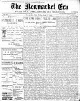 Newmarket Era (Newmarket, ON1861), July 27, 1900