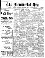 Newmarket Era (Newmarket, ON1861), October 12, 1900