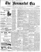 Newmarket Era (Newmarket, ON1861), November 9, 1900