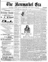 Newmarket Era (Newmarket, ON1861), December 21, 1900